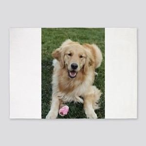 Nala the golden retroever dog 5'x7'Area Rug